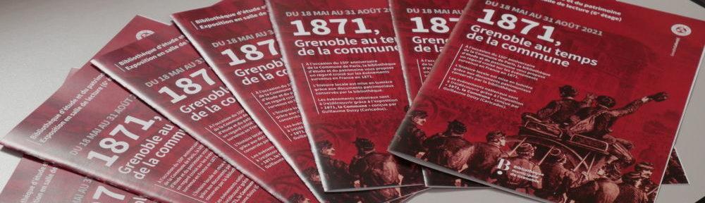 Flyers de l'exposition sur la commune à Grenoble (c) Ilan Khalifa--Delclos | Place Gre'net