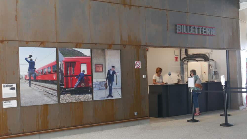 Billetterie du petit train de la Mure en gare de la Mure de son lancement le 20 juillet 2021 (c) Ilan Khalifa--Delclos | Place Gre'net