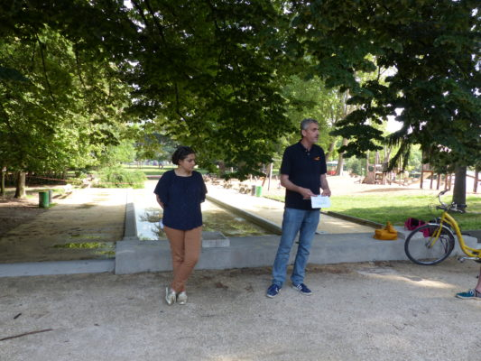 Conférence de presse plan fraîcheur, Gilles Namur, parc Paul Mistral, 17 juin 2021 (c) Emma Venancie-Place Gre'net