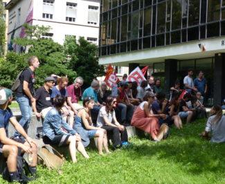 Manifestation des professeurs, rectorat (c) Emma Venancie