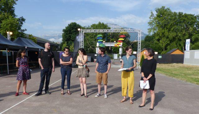 Cabaret frappé, Été Oh! Parcs… Grenoble fête l'été. L'Eté à Grenoble conférence de presse, Anneau de vitesse, parc Paul Mistral, 20 juin 2021 (c) Emma Venancie-Place Gre'net