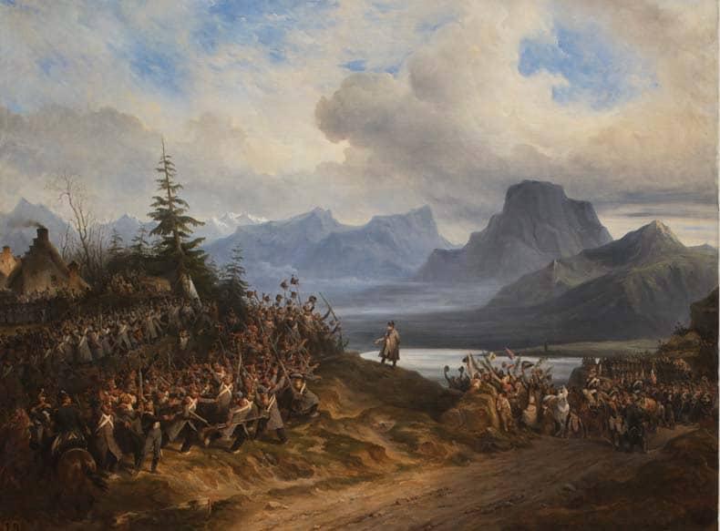 Arrivée de Napoléon aux environs de Grenoble - Hippolyte Bellangé - Musée de Picardie © Michel Bourguet