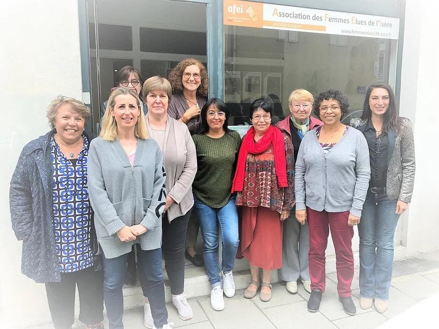 L'équipe de l'Association des femmes élues de l'Isère © AEFI