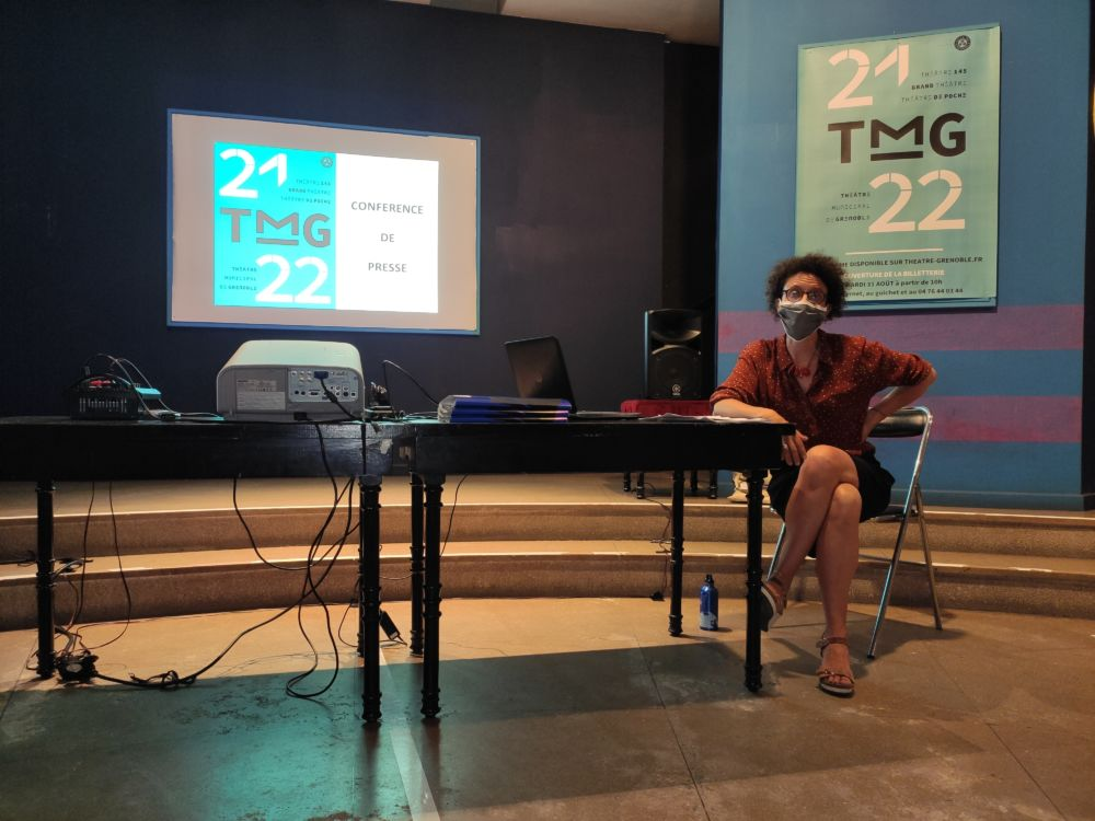 Delphine Gouard, directrice du TMG durant la présentation de la saison 2021-2022 © Florent Mathieu - Place Gre'net