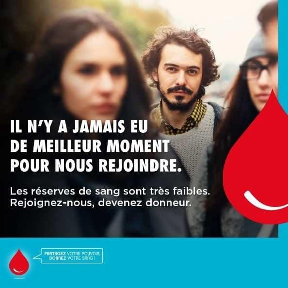 Visuel de l'Établissement français du sang © EFS