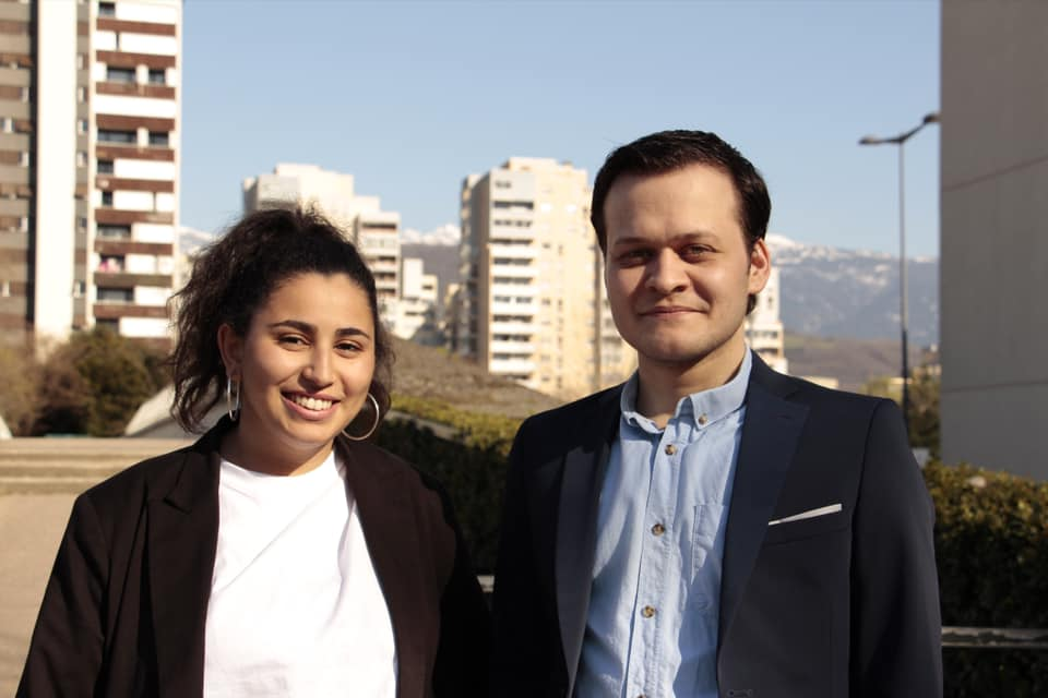Parmi les signataires, Hanane Mansouri et Clément Chappet, candidats de la droite et du centre aux départementales 2021 sur le canton 4 de Grenoble © Clément Chappet - Facebook