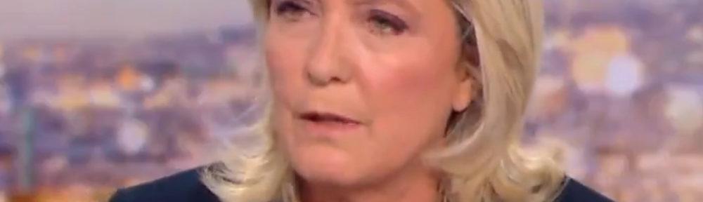 Marine Le Pen, candidate du Rassemblement national à l'élection présidentielle. (Copie d'écran)