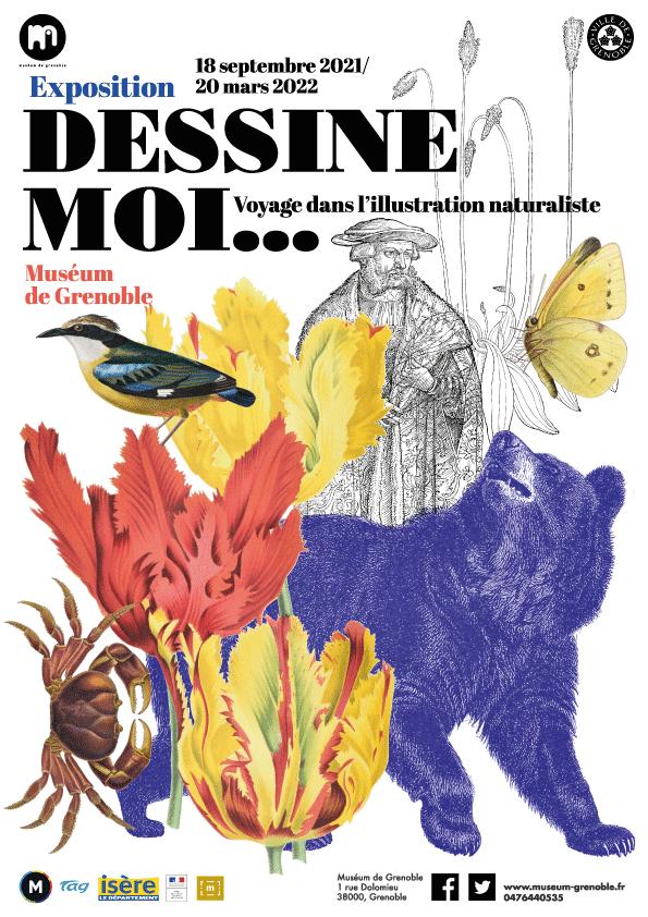 L'exposition dédiée à l'illustration naturaliste du Muséum de Grenoble se tient jusqu'au 20 mars 2022 © Ville de Grenoble