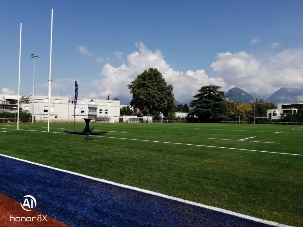 Inauguration du nouveau terrain annexe synthétique du FCG au Stade Lesdiguières, le 11 septembre 2021, à l'occasion de la fête du club.