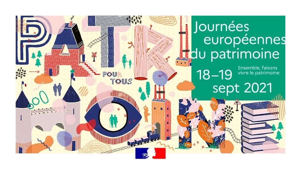 Visuel des Journées européennes du patrimoine 2021. DR