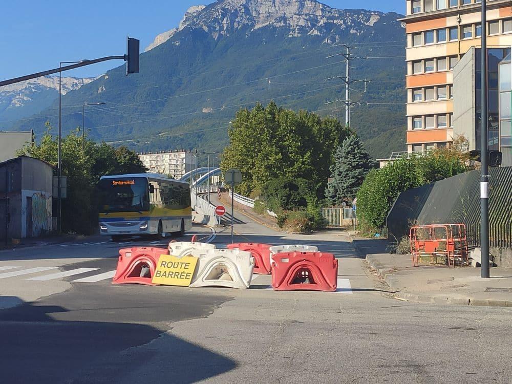 Le pont Esclangon est fermé dans la direction Grenoble-Fontaine © Florent Mathieu - Place Gre'net