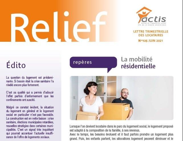 """La revue Relief d'Actis se désigne comme la """"lettre trimestrielle des locataires"""". DR"""