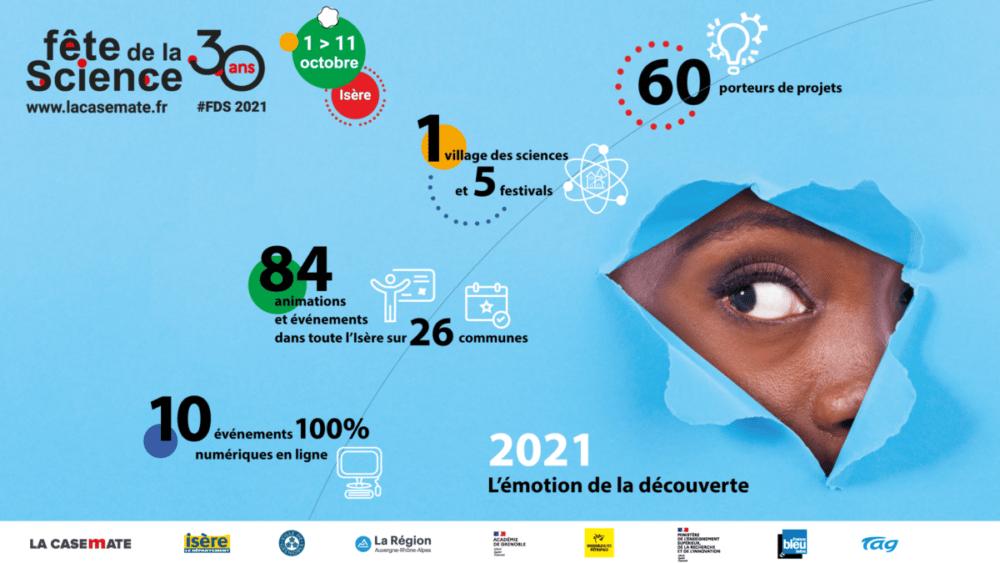Les chiffres clés de la Fête de la Science en Isère. © La Casemate