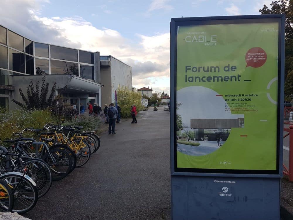 Forum de lancement de la concertation sur l'avant projet du câble urbain de la métropole de Grenoble, mercredi 6 octobre 2021 à Fontaine © Séverine Cattiaux - Place Gre'net