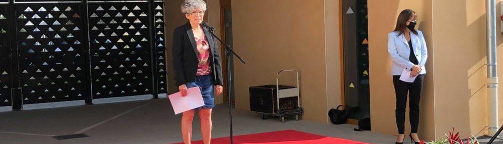 Christine Garnier et Sandrine Martin-Grand inaugurent le nouveau bâtiment de l'école Jean Racine © Laure Gicquel - Place Gre'net