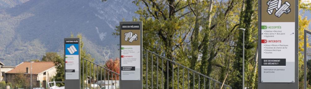 La Métropole de Grenoble a inauguré la nouvelle déchèterie de Sassenage, « plus spacieuse et plus sûre », mardi 19 octobre 2021.