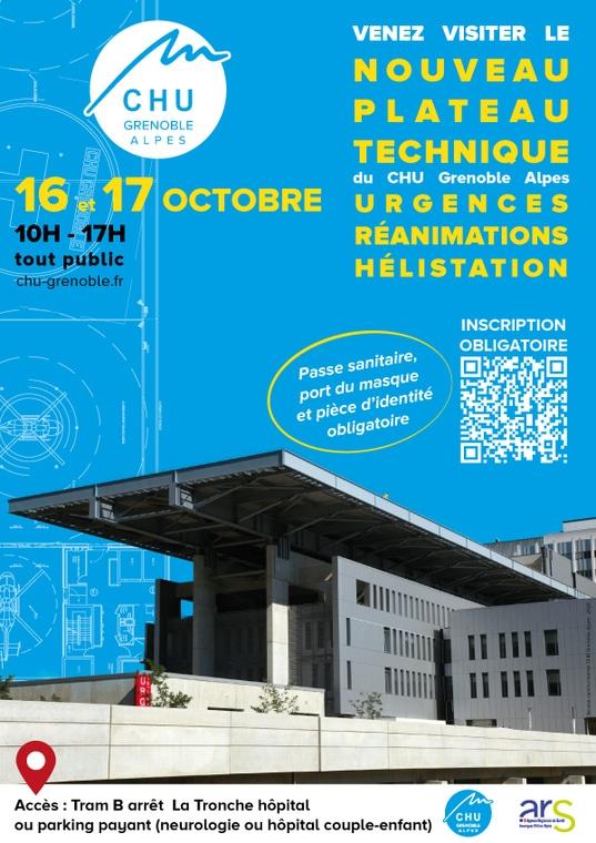 Le CHU Grenoble-Alpes organise deux journées portes ouvertes pour permettre de visiter son nouveau plateau technique. © CHU Grenoble-Alpes