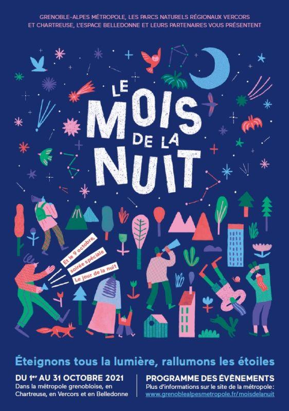Affiche du Mois de la nuit. © Métropole de Grenoble