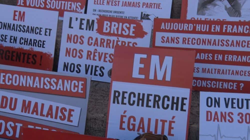 Grenoble : mobilisation contre l'encéphalomyélite myalgique © Joël Kermabon - Place Gre'net
