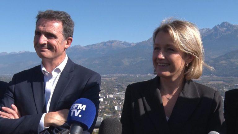 Barbara Pompili est venue annoncer une aide de l'État de quatre millions d'euros à Grenoble pour le portage de l'événement capitale verte européenne. © Joël Kermabon - Place Gre'net