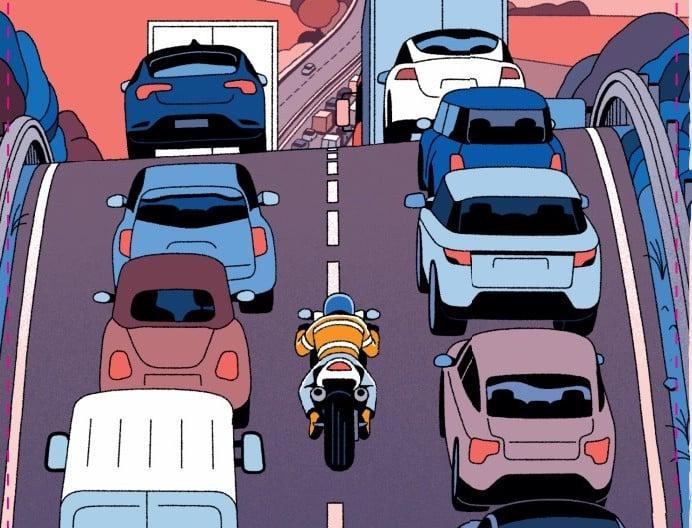 La circulation inter-files autorisée deux jours en Isère dans le cadre d'une expérimentation