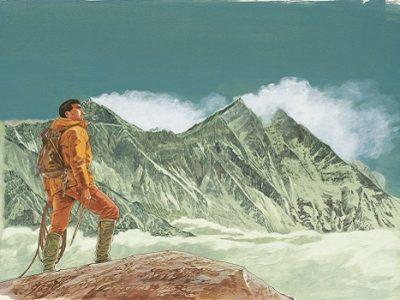 Le Sommet des dieux (tome 1) Jirô Taniguchi Éditions Kana, 2000 Illustration originale de couverture Le sommet des dieux © Jirô Taniguchi 2000 / BCF - Tokyo
