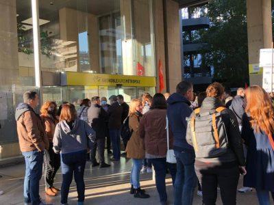 Manifestation devant la Métropole contre l'augmentation du temps de travail © Laure Gicquel - Place Gre'net