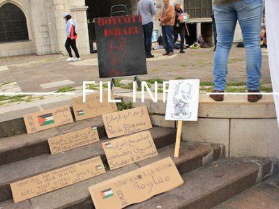 Marche de soutien ce 24 mai à Grenoble en soutien aux prisonniers palestiniens en grève de la faim en Israël depuis plus d'un mois.