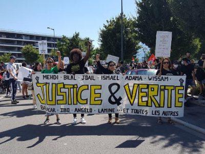 Marche contre les violences policières ce samedi 4 juillet 2020 à Grenoble© Séverine Cattiaux - Place Gre'net