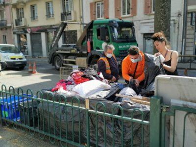 Opération zéro déchet quartier Saint-Bruno. © Joël Kermabon - Place Gre'net
