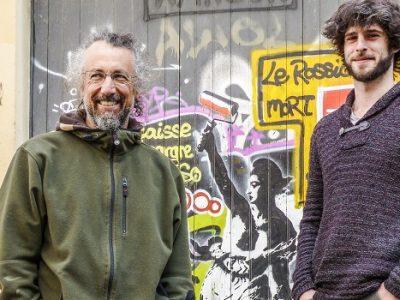 Jérôme Catz et Quentin Hugard, organisateurs du Street Art Fest. © Adèle Duminy