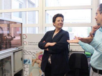 La ministre Frédérique Vidal a visité les laboratoires de recherche grenoblois.