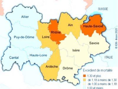 Covid-19 : l'Isère plutôt épargné par la hausse des décès