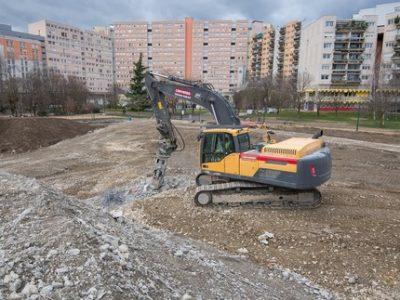 Collège Lucie Aubrac visite chantier UNE