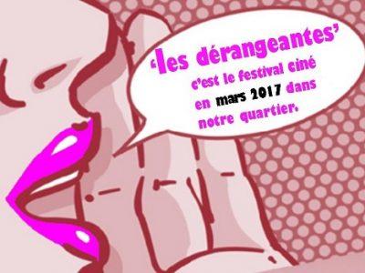 Visuel affiche festival Les Dérangeantes