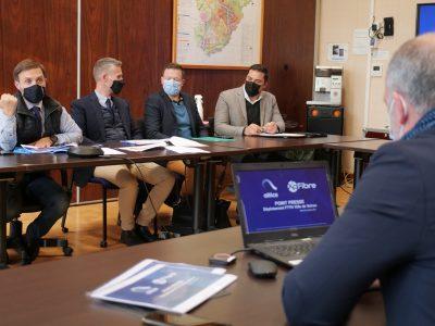 Conférence de presse sur le déploiement de la fibre optique à Voiron. © Ville de Voiron