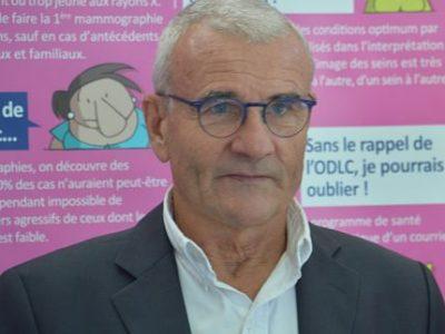 Philippe Gabelle, président de l'Office de lutte contre le cancer (ODLC) en Isère, se réjouit du partenariat avec les Brûleurs de Loups pour Octobre rose.