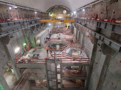 La grande salle souterraine du chantier Romanche - Gavet. © EDF - C. Huret