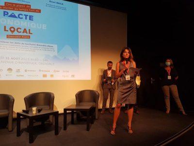 Emmanuelle Rivière, DG de la CCI aux rencontres du pacte économique local à Alpexpo, mardi 31 août © Séverine Cattiaux- Place Gre'net