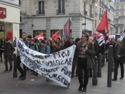Manifestation à Grenoble le 30 janvier 2016 contre l'état d'urgence.
