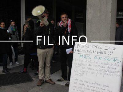 FIL Grève des animateurs périscolaires et agents des écoles © Séverine Cattiaux - Place Gre'net