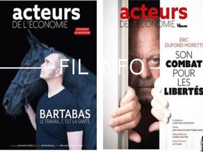 Le bimestriel Acteurs de l'économie a tiré sa révérence. Son dernier numéro est sorti en novembre 2018. DR