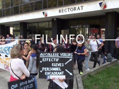 Fil Info College Vercors greve rectorat 2016