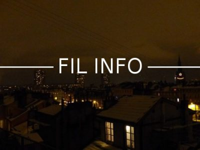 Fil Info Grenoble de nuit vue depuis les quais