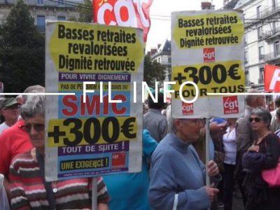 Fil Info Manifestation retraités