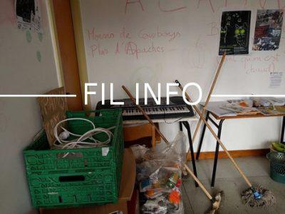 Le syndicat étudiant Uni de Grenoble dénonce la présence d'une « salle sale » au cœur de l'université Stendhal, ou s'accumulent tags, poubelles et mégots.