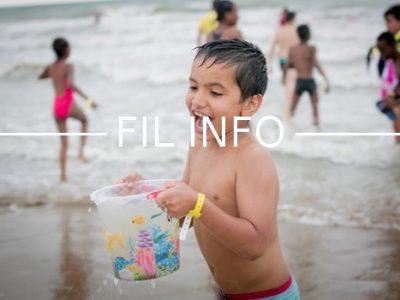 Fil Info enfant plage Secours Populaire vacances