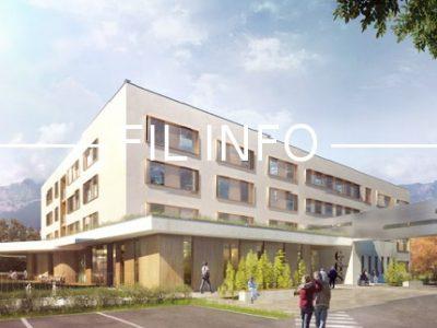 Le Chuga a inauguré son nouveau Centre de Gérontologie Sud (CGS) sur le site d'Echirolles, ce vendredi 19 janvier. © Chuga
