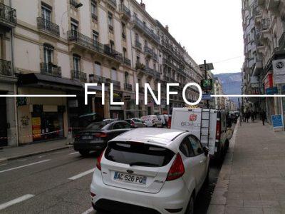 Fil Info voiture rue cours Alsace Lorraine Radar Métropole apaisée