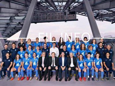 Lors du tirage au sort des demi-finales de la Coupe de France féminine ce mardi 12 février, les footballeuses du GF38 ont hérité de l'Olympique lyonnais !Equipe du GF38 féminin saison 2018-2019. © GF38